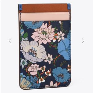 Tory Burch Floral Printed Phone Card Pocket